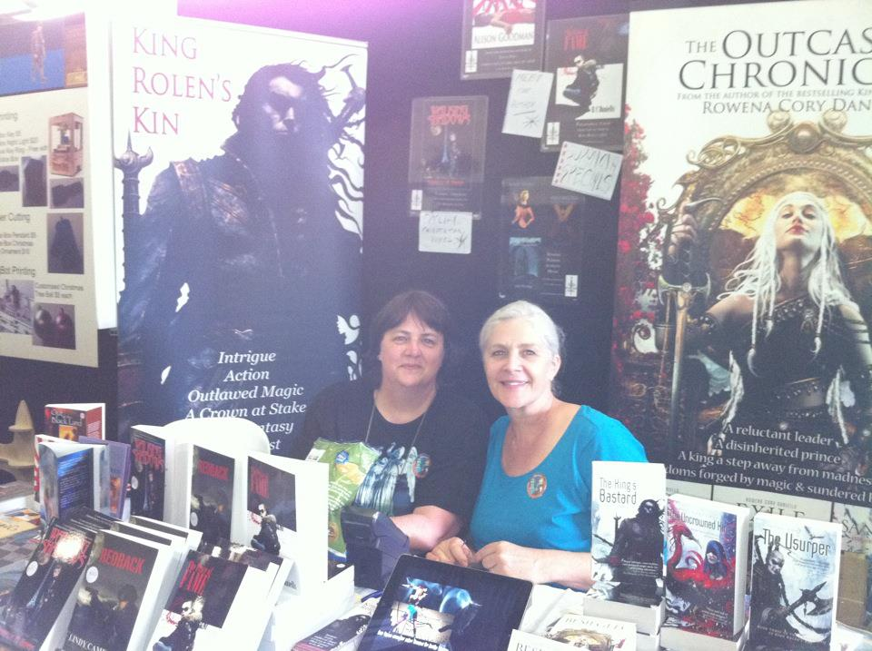 Here I am at Supanova with Lindy from ClanDestine Press.