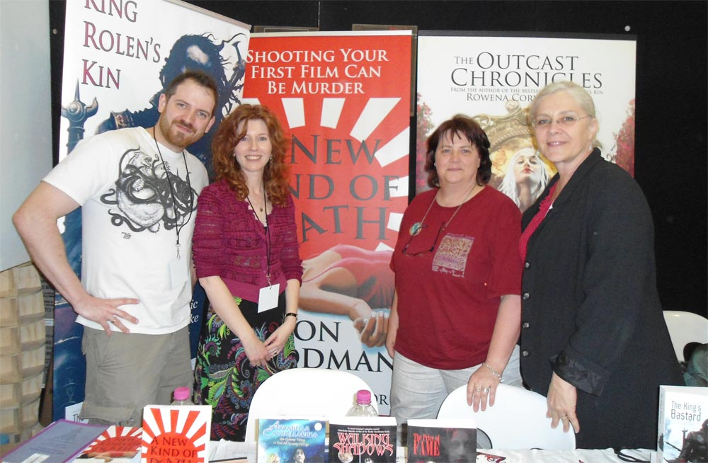 Here I am having a fan girl moment with Joe Abercrombie, while hanging out with the lovely Alison Goodman and Lindy Cameron.