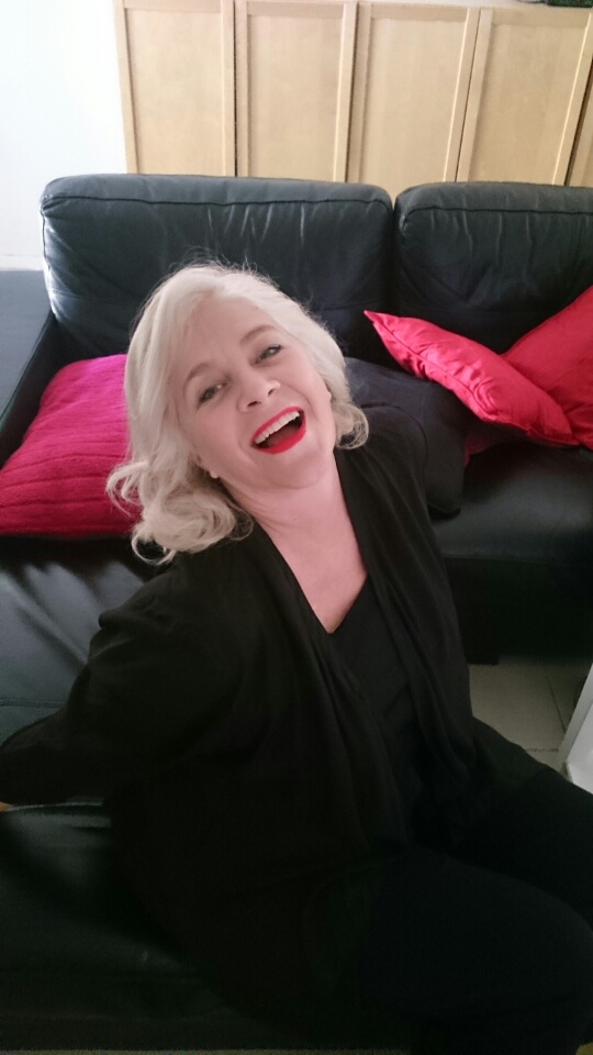 Here I am doing my Marilyn imitation (as a mother of six my life is not at all glamorous)