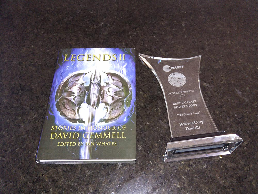 Legends 2, where 'The Giant's Lady' appears, and the actual Aurealis Award for best fantasy short story